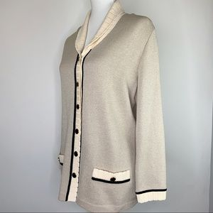 St. John Collection Knit Cardigan Sweater Size 8